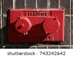 Red Wall Mounted Standpipe. Ne...
