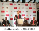 Small photo of Major League Soccer Press Conference at the Mercedes-Benz Stadium on October 23rd, 2017 in Atlanta, Georgia USA announcement of MLS ALL-STAR game in Atlanta 2018
