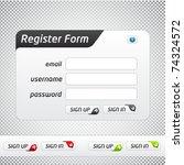 clean vector registration form... | Shutterstock .eps vector #74324572
