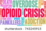 opioid crisis word cloud on a... | Shutterstock .eps vector #743245915