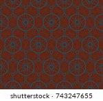 ornamental seamless pattern.  ... | Shutterstock . vector #743247655