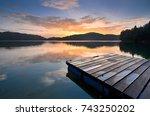scenery of mengkuang dam in... | Shutterstock . vector #743250202