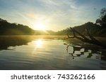 kinabatangan river in boreno | Shutterstock . vector #743262166