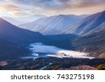 mountains in kanas of china | Shutterstock . vector #743275198