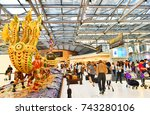 bangkok  sep 24   scene of the... | Shutterstock . vector #743280106