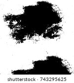 grunge black white. monochrome...   Shutterstock .eps vector #743295625