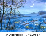 Watercolor Landscape. Lighted...