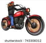 vector illustration of man... | Shutterstock .eps vector #743308312