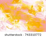 multicolor acrylic paint... | Shutterstock . vector #743310772