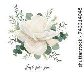 flower bouquet floral bunch ... | Shutterstock .eps vector #743314045