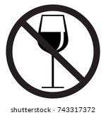 no drink silhouette | Shutterstock .eps vector #743317372