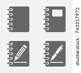 notebook notepad icon isolated | Shutterstock .eps vector #743317972