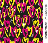 abstract vector seamless... | Shutterstock .eps vector #743320648