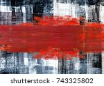 hand painted  abstract... | Shutterstock . vector #743325802