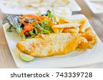 fish and chip | Shutterstock . vector #743339728