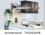 modern home interior. modern... | Shutterstock . vector #743342698