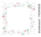 square christmas border or... | Shutterstock .eps vector #743345635