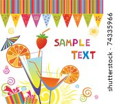 celebration background.  vector ... | Shutterstock .eps vector #74335966