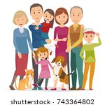 illustration of family   7... | Shutterstock .eps vector #743364802