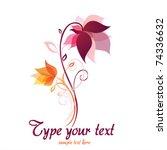 Stock vector flower vector 74336632