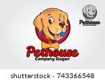 Stock vector pethouse logo mascot logo for dogs vector logo illustration 743366548