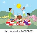 family picnic time  | Shutterstock .eps vector #74336887
