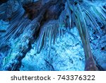 Illuminated Rock Formations In...
