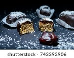 candies and sweets made from... | Shutterstock . vector #743392906
