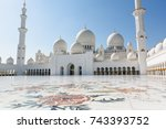 sheikh zayed grand mosque in...   Shutterstock . vector #743393752