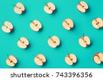 colorful fruit pattern of fresh ...   Shutterstock . vector #743396356