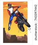 vector illustration of man... | Shutterstock .eps vector #743397442