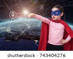 protect the personal data in... | Shutterstock . vector #743404276
