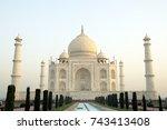 taj mahal  agra. taj mahal is a ... | Shutterstock . vector #743413408
