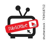 subscribe channel for videos... | Shutterstock .eps vector #743418712