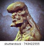 3d rendering of imaginative... | Shutterstock . vector #743422555