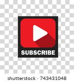 subscribe button for channel...   Shutterstock .eps vector #743431048