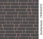 seamless texture of a brick...   Shutterstock .eps vector #743431072