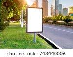 banner billboard mockup for...   Shutterstock . vector #743440006