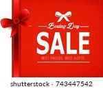 happy boxing day. vector... | Shutterstock .eps vector #743447542