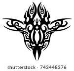 illustration of an ethnic... | Shutterstock .eps vector #743448376