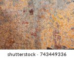 abstract multicolor grunge... | Shutterstock . vector #743449336