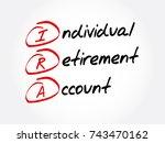 ira   individual retirement... | Shutterstock .eps vector #743470162