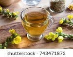 A Cup Of Mullein Tea With Fres...