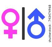 Toilet Gender Symbol Flat...