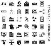 data in laptop icons set.... | Shutterstock . vector #743479138