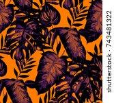 watercolor seamless pattern... | Shutterstock . vector #743481322