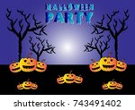 happy halloween party | Shutterstock .eps vector #743491402