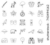 wild territory icons set.... | Shutterstock . vector #743494162