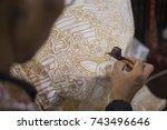 painting batik   javanese... | Shutterstock . vector #743496646