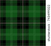 green and black scottish woven... | Shutterstock .eps vector #743499322